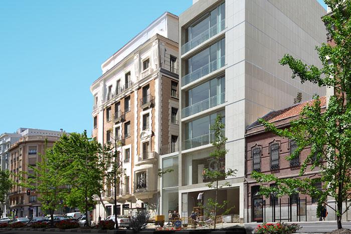 Rehabilitación y Ampliación de edificio y aparcamiento robotizado en Ppe. Vergara, Madrid